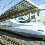 Shinkansen in the nice weather
