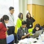 Working on their final presentation